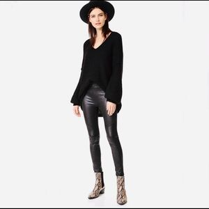 Free People vegan leather legging